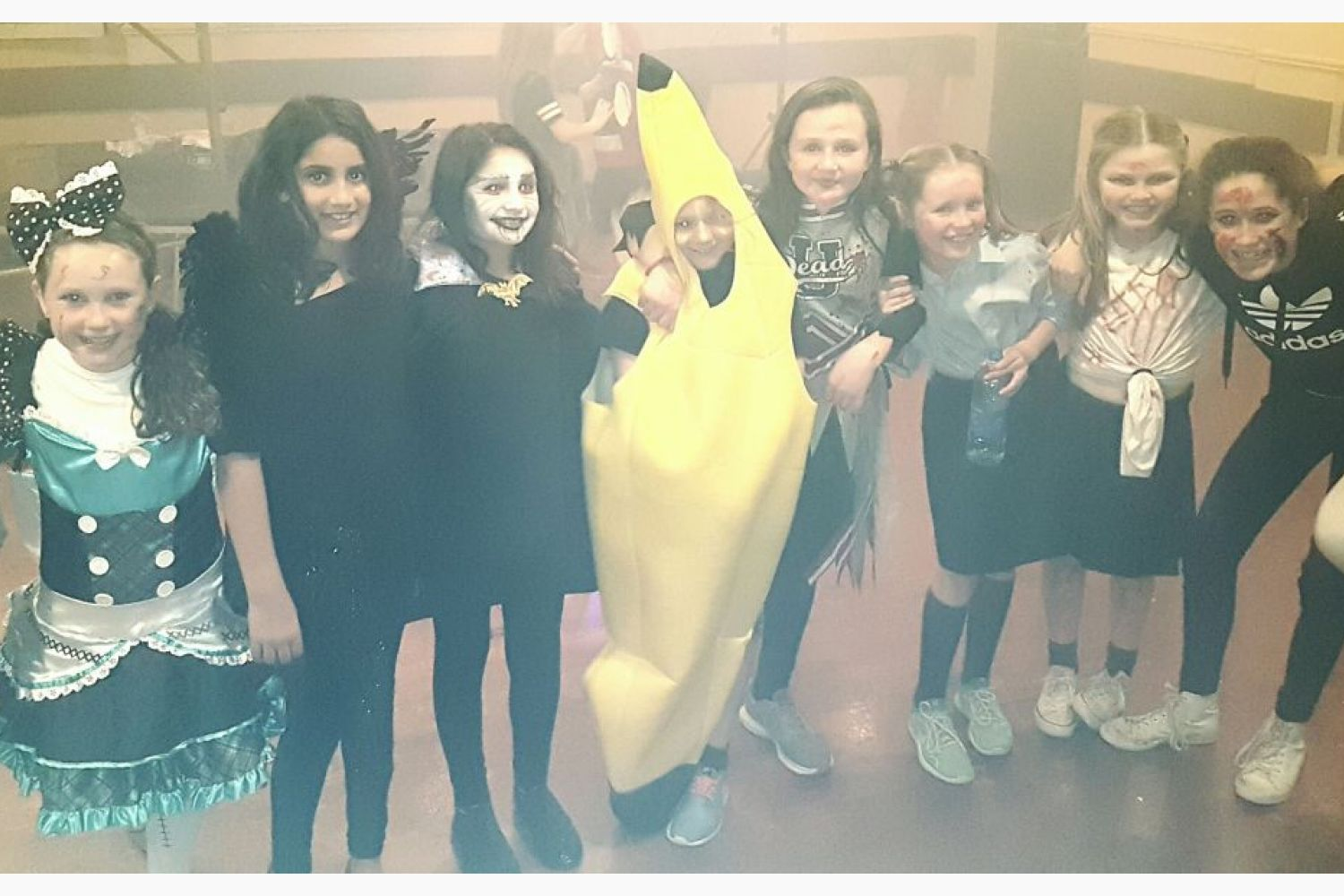 Trick or treat  as Junior Camogie Girls dress up to celebrate Halloween .....