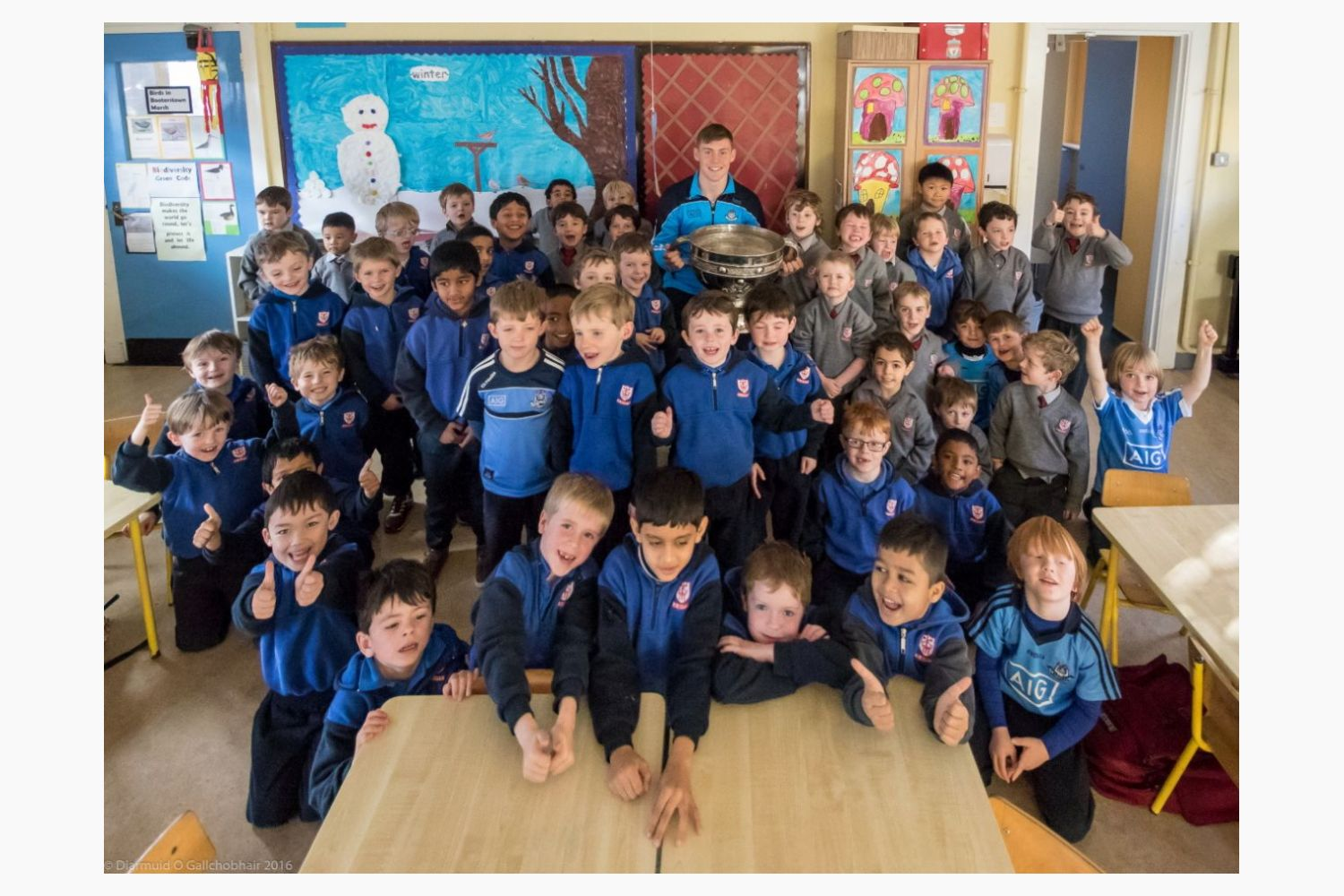 Sam comes to visit St Mary's Booterstown