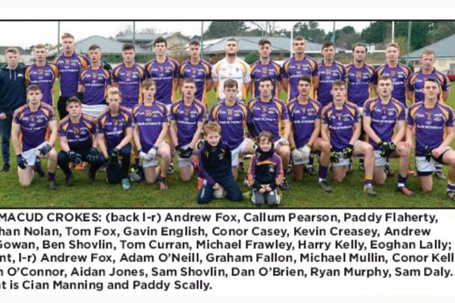 County FInal for Crokes U21 Footballers - Saturday 17th at 2pm