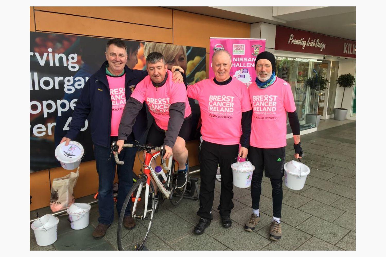 M2M Static Cycle Fundraising in Stillorgan Shopping Center