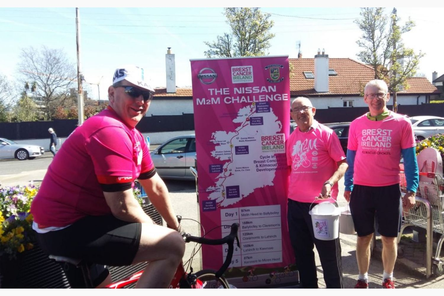 M2M Static Cycle Fundraising in Supervalue Mount Merrion
