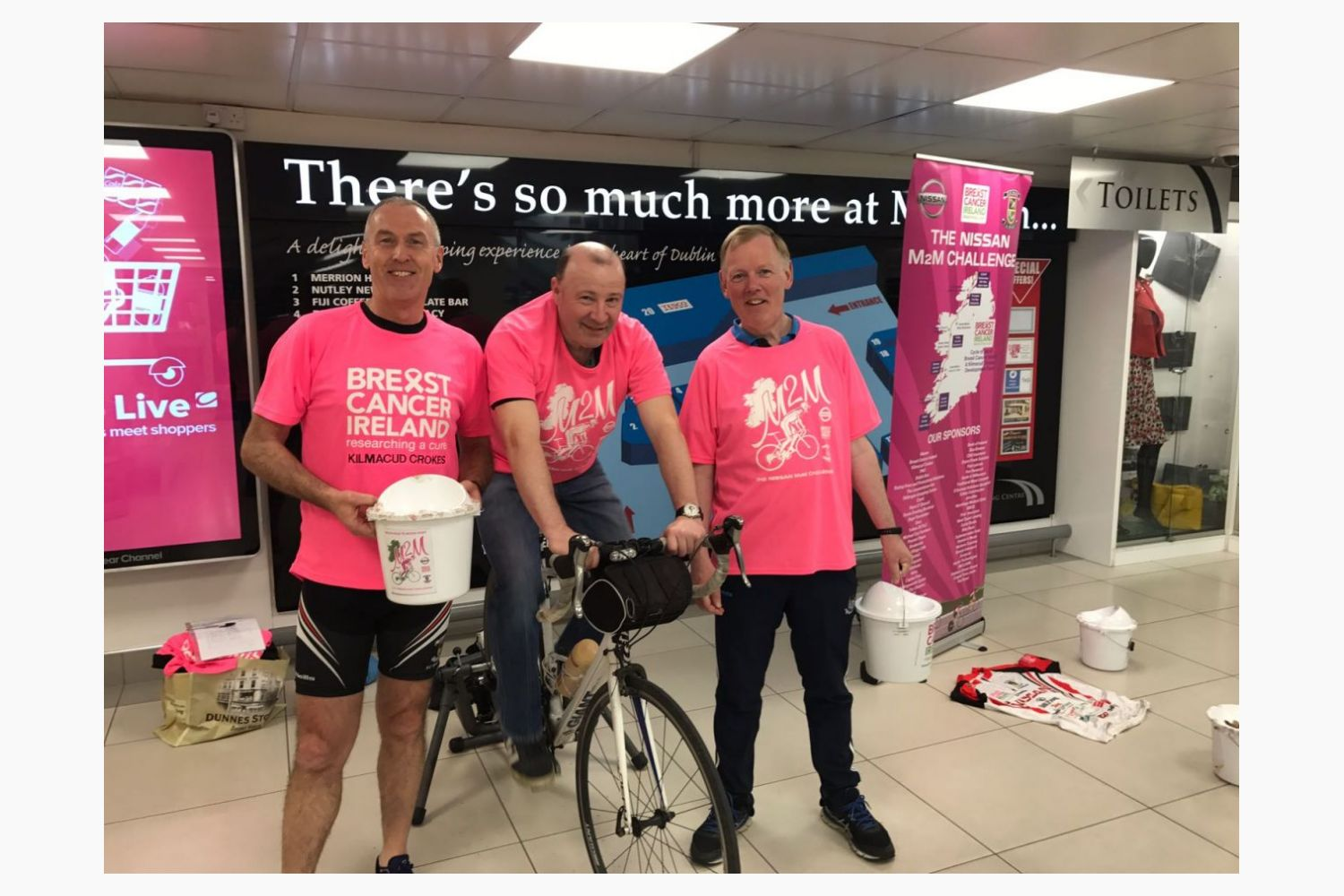 Static Cycling and Bag Packing Fundraising over the May Bank Holiday Weekend for Nissan Crokes / BCI M2M  2018