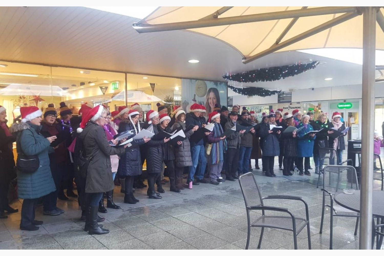 Kilmacud Crokes Choir  Supporting The Hospice  Dece 8th Stillorgan Shopping Center