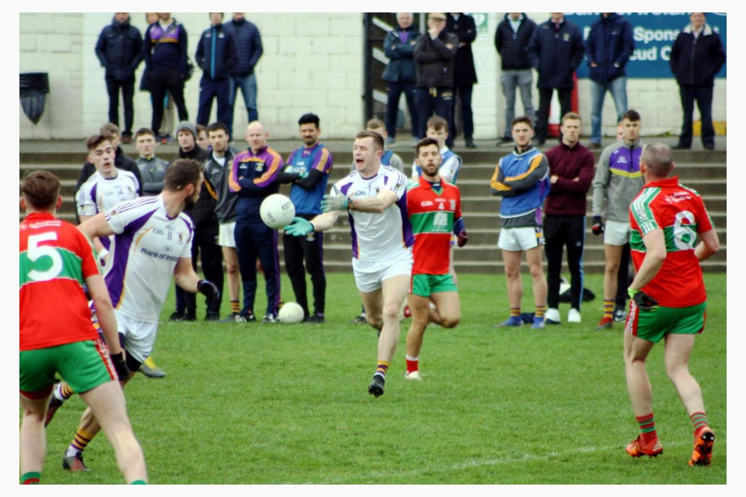 AFL1  record a 1 pt win over Ballymun in their League encounter in Parc De Burca Sunday March 31st