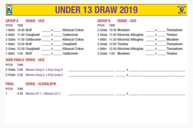 U13 Draw  -  Beacon Hospital All Ireland Sevens