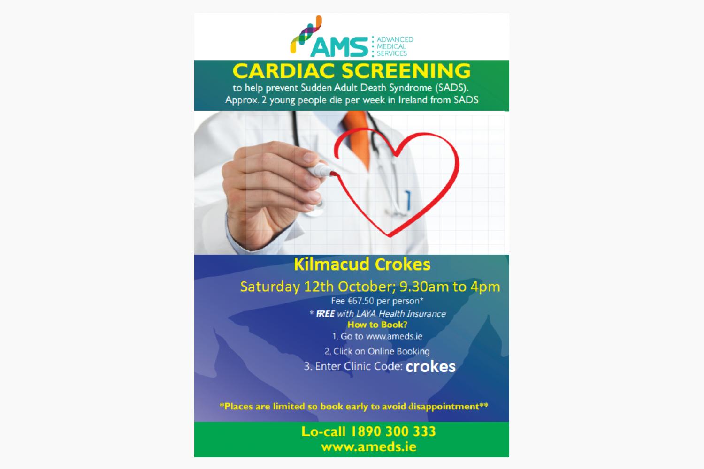 Cardiac Screening Progrmme - Saturday 12th October