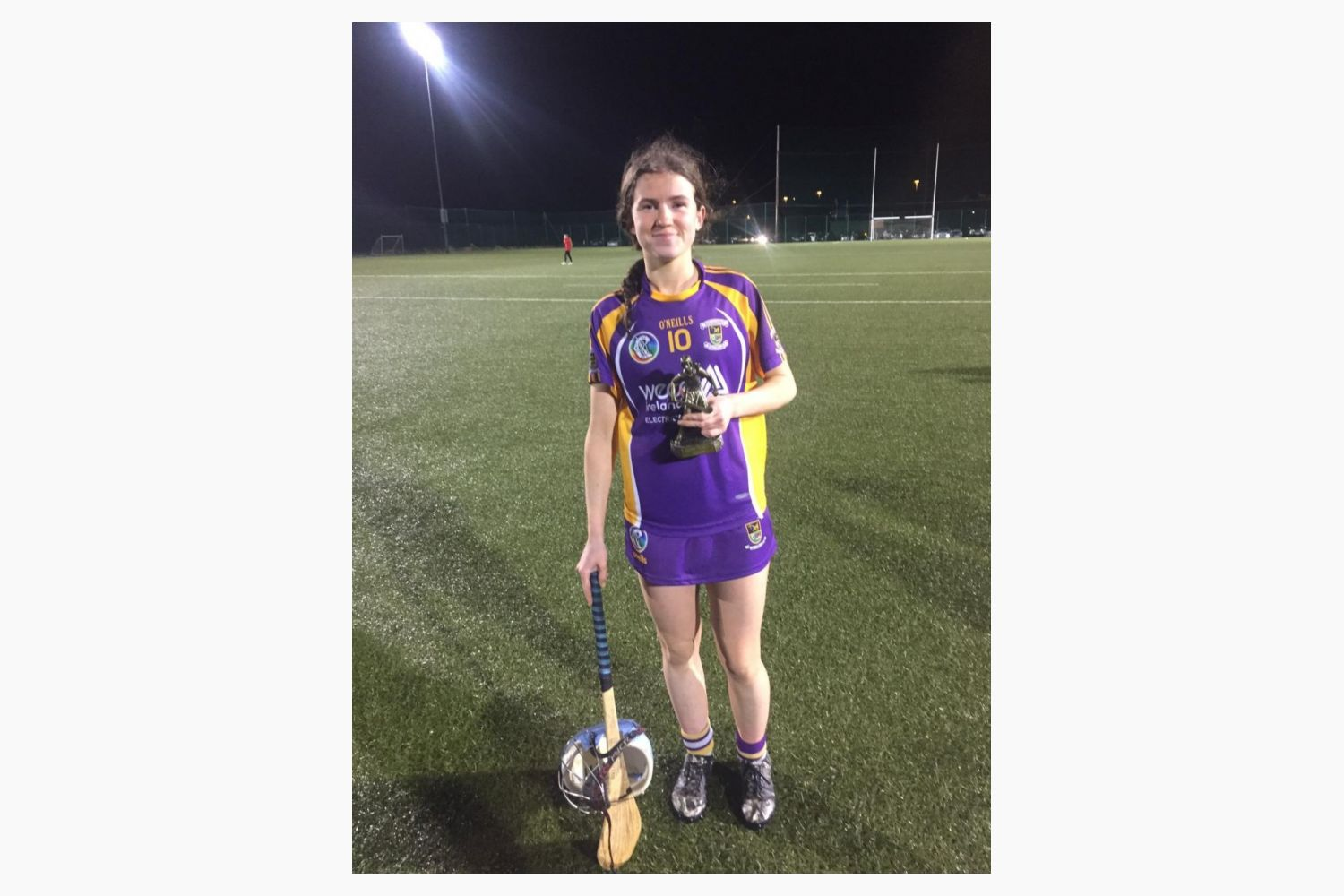 Róisín Ní Chathasaigh wins player of the match in the Junior 1 Final