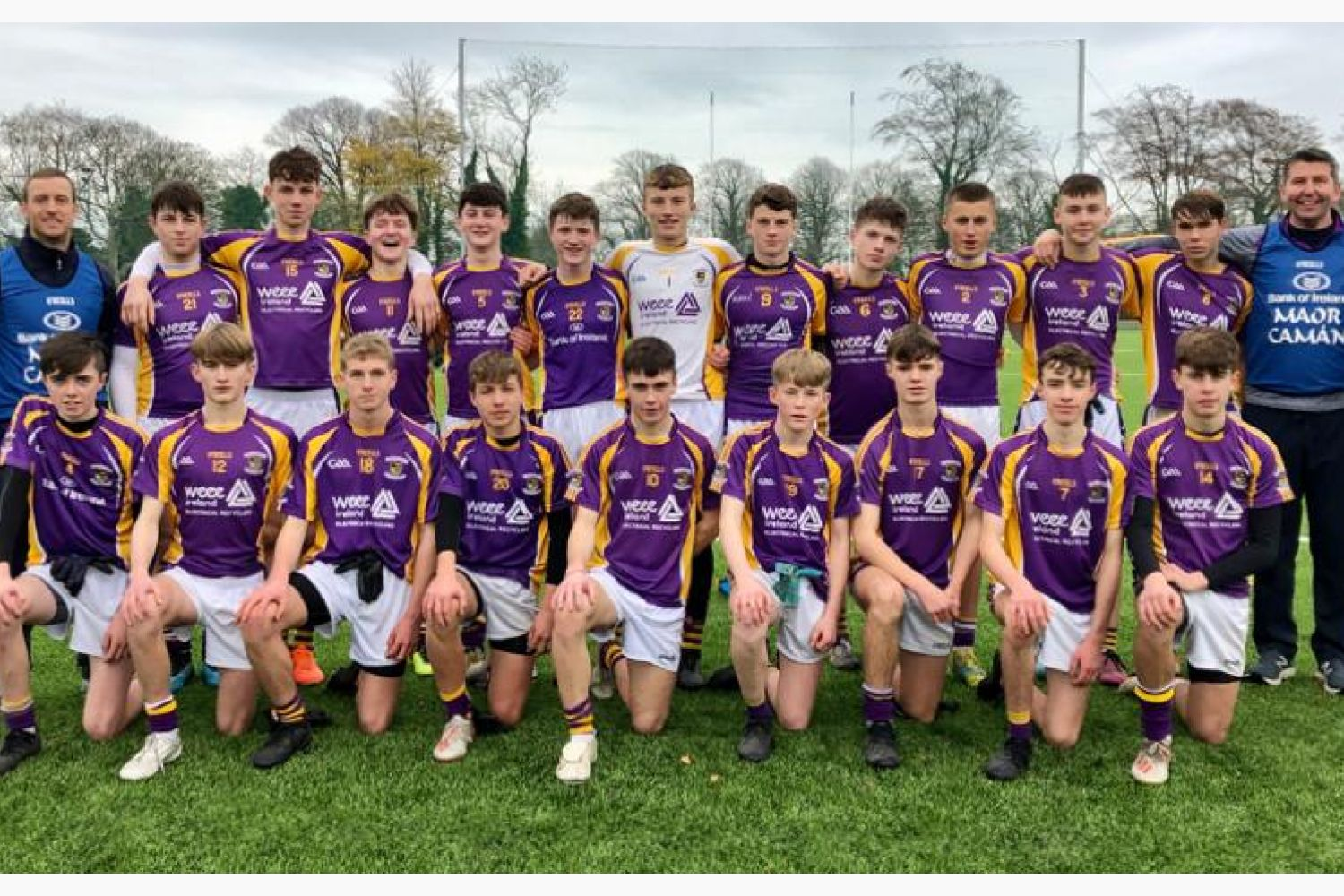 Kilmacud Crokes Under 15 Footballers Complete a League and Championship Double