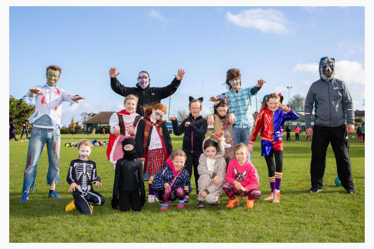 U8's dress up for Halloween
