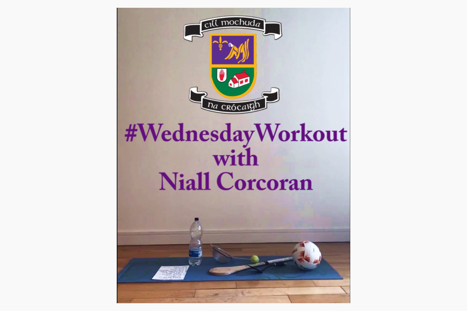 Reminder to Join Niall in his Weekly Lockdown Fitness Session Every Wednesday at 12 noon - On Club Facebook Live