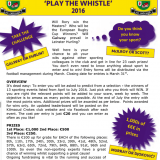 Winners of Play the Whistle 2016