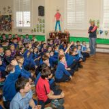 Sam comes to visit Carysfort NS