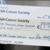 Movemeber in Crokes  - Donation Handover to Irish Cancer Society