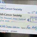 Movemeber in Crokes  - Donation Handover to Irish Cancer Society