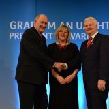 John Sheridan receives the GAA President Award for his invaluable contribution to Ladies Football in Kilmacud Crokes