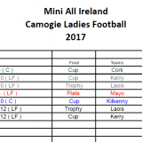 Finals Night - Mini All Ireland Camogie &Ladies Football 2017