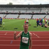 Clubman John O' Loughlin -  representing Ireland in Masters Athletics Event