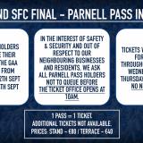 Parnell Pass All Ireland Ticket Details