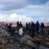Kickstart Hillwalkers enjoy a bright day in Glendalough
