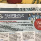 Shane Horan AIG/The Herald player of the month for April.