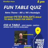 Walk While You Can Fund-Raising Quiz Friday July 6th 8pm in the Club Function Room