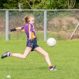 Kilmacud Crokes Under 12 Ladies Footballers at Carryduff GAA blitz in Belfast on 25th of August
