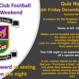 Leinster Club Football Final Weekend Table Quiz Fundraiser - December 7th 8pm in Function Room