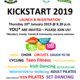KickStart KIlmacud Crokes 2019 Program Registration in Club on Thursday Jan 10th at 8:30pm