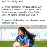 Molly Lamb  named as UCD's O'Connor Cup Player of the Year for 2020