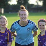 Lauren Magee visits under 10's Ladies Football & Camogie