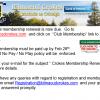 2017 Club Membership Renewal Now Due