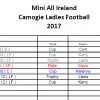 Finals Night - Mini All Ireland Camogie &Ladies Football 2017