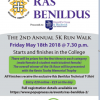 Annual Rás Benildus 5k Run/Walk @ 19:30 on Friday the 18th of May 2018